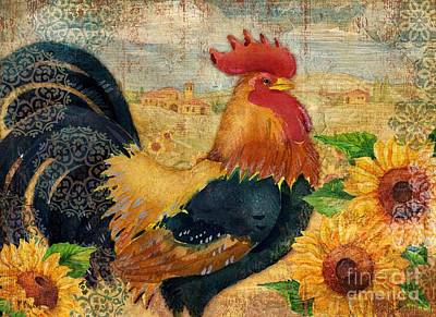 Sunflower Roost Art Print