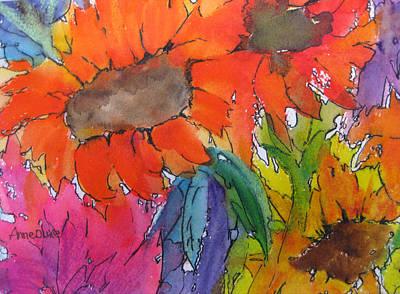 Painting - Sunflower Sampler by Anne Duke