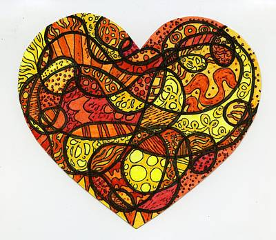 Swirly Drawing - Sunflower by Sarah Davis