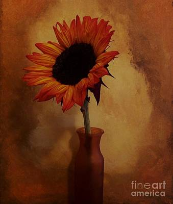 Sunflower Seed Maker Art Print by Marsha Heiken