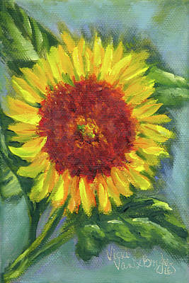 Painting - Sunflower Seed Packet by Vicki VanDeBerghe