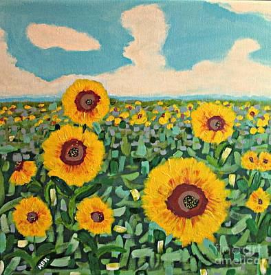 Sunflower Serendipity Art Print