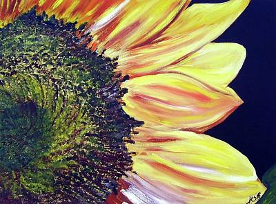 Sunflower Single Art Print by Maria Soto Robbins