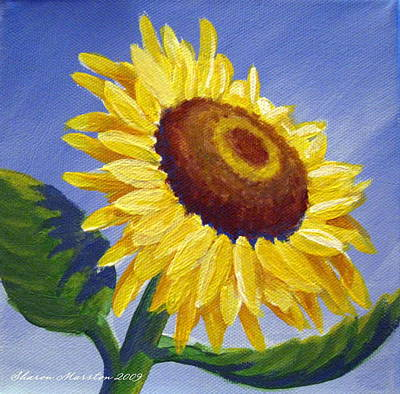 Sunflower Skies Print by Sharon Marcella Marston