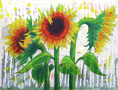 Painting - Sunflower Sonata by Lisa Crisman
