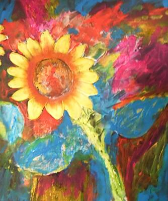 Painting - Sunflower Song by Esther Newman-Cohen