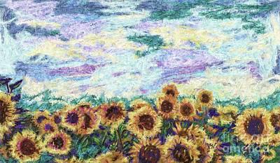 Sunflower Space Art Print