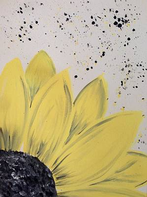 Sunflowers Wall Art - Photograph - Sunflower Splatter by Annie Walczyk