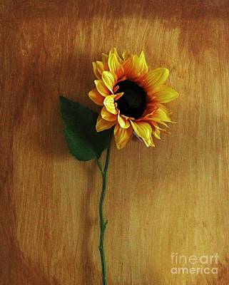 Sunflower Standing Art Print by Marsha Heiken