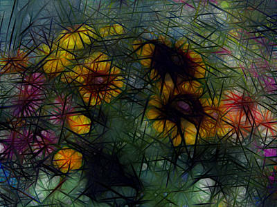 Sunflower Streaks Art Print by Carol Crisafi