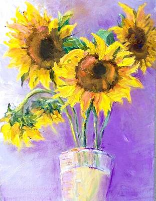 Painting - Sunflower Summer by Sally Fraser
