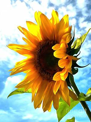 Sunflower - Sun Shine On Art Print by Janine Riley