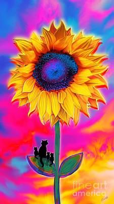 Digital Art - Sunflower Sunrise by Nick Gustafson