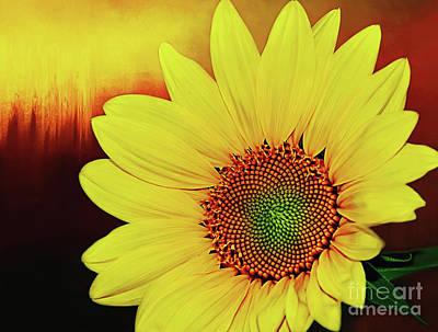 Sunflower Sunset By Kaye Menner Art Print by Kaye Menner