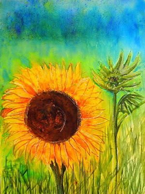 Mixed Media - Sunflower Sunshine by Betty-Anne McDonald