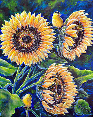 Painting - Sunflower Supper by Gail Butler