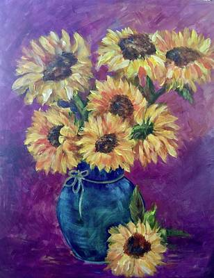 Painting - Sunflower Time by Charme Curtin