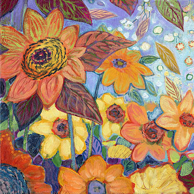 Sunflower Painting - Sunflower Tropics Part 1 by Jennifer Lommers