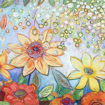 Painting - Sunflower Tropics Part 2 by Jennifer Lommers