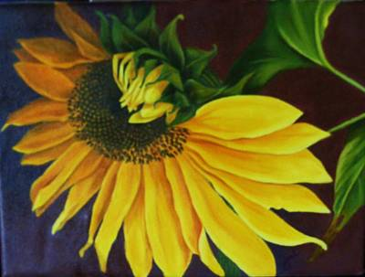 Painting - Sunflower Turning by Jean LeBaron
