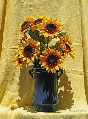 Sunflower Vase Art Print by Garth Glazier