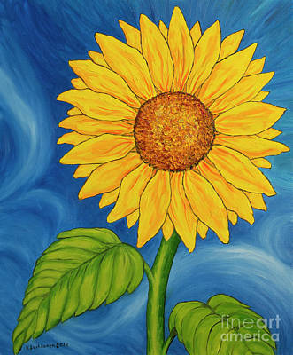 Sunflowers Royalty-Free and Rights-Managed Images - Sunflower by Veikko Suikkanen