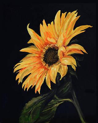 Sunflower Vii Art Print by Sandra Nardone