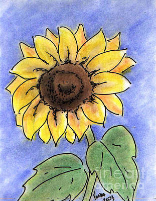 Drawing - Sunflower by Vonda Lawson-Rosa