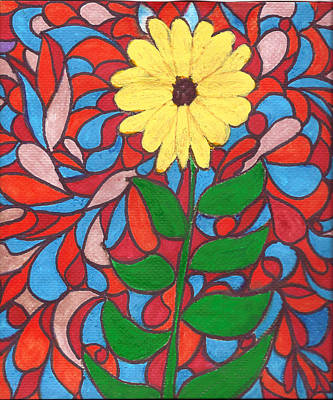 Mixed Media - Sunflower by Wayne Potrafka