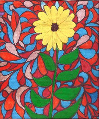 Mixed Media - Sunflower by Wayne Potrafka