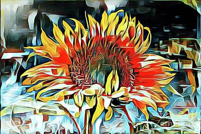 Sunflower 02 ...25.22 Macro Art Printing Art Print