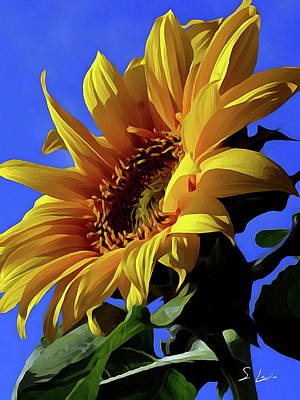 Photograph - Sunflowers 02 ...35.17 Yellow Symbolised Happiness by S Art