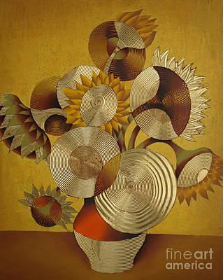 Painting - Sunflowers 1 by Albert Simonian