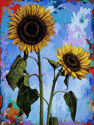 Sunflower Painting - Sunflowers #1 by David Palmer