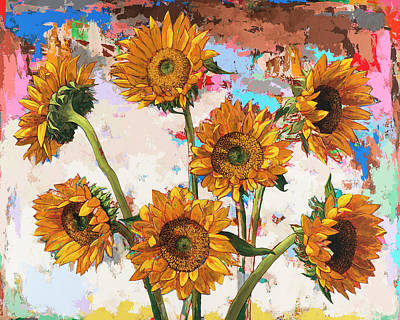 Sunflower Painting - Sunflowers #10 by David Palmer