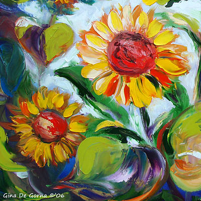 Painting - Sunflowers 10 by Gina De Gorna
