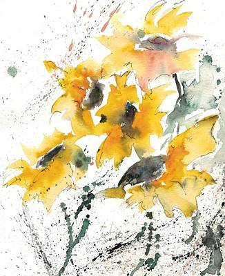 Sunflowers 10 Print by Ismeta Gruenwald