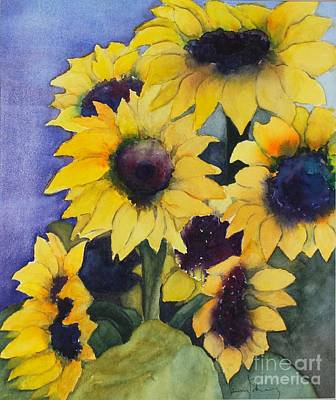 Painting - Sunflowers 17 by Penny Stroening