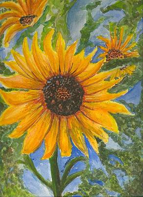 Painting - Sunflowers 2 by Darren Cannell
