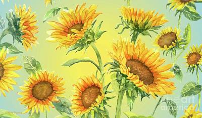 Mixed Media - Sunflowers 2 by Melly Terpening