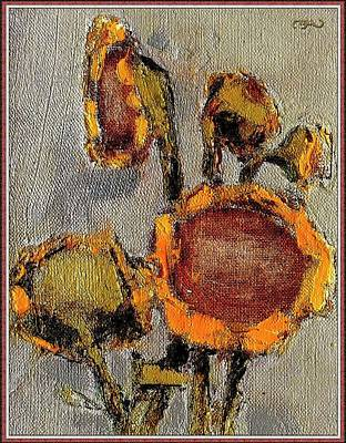 Flower Still Life Mixed Media - Sunflowers 2 by Pemaro