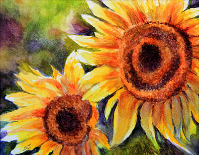 Painting - Sunflowers 2 by Susan Jenkins