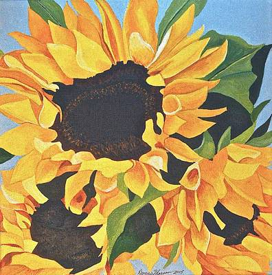Painting - Sunflowers #3 by Donna Blossom