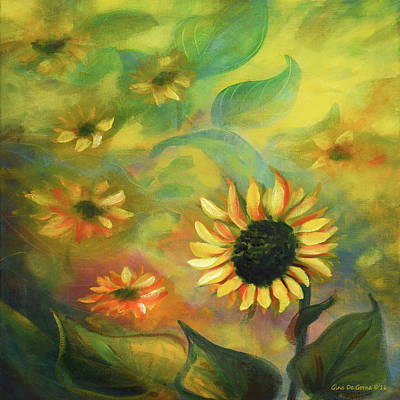 Painting - Sunflowers 35, Square Painting by Gina De Gorna