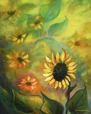 Painting - Sunflowers 35, Vertical Painting by Gina De Gorna