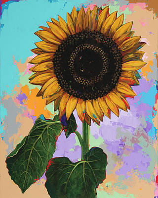 Sunflower Painting - Sunflowers #4 by David Palmer