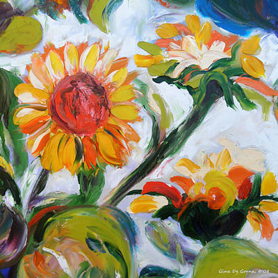 Painting - Sunflowers 5 by Gina De Gorna