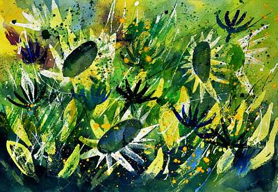 Sunflowers Royalty-Free and Rights-Managed Images - Sunflowers 5170 by Pol Ledent