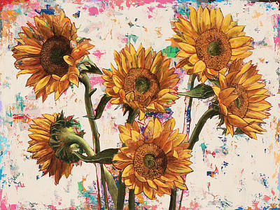 Sunflower Painting - Sunflowers #9 by David Palmer