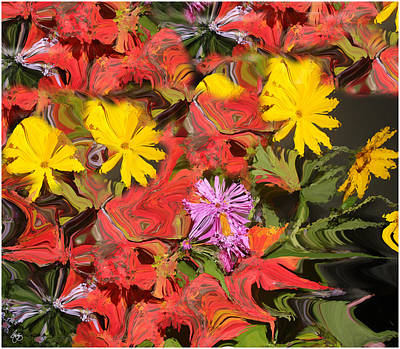 Photograph - Sunflowers And Asters by Wayne King